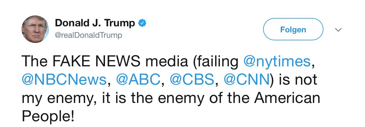 Tweet Donald Trump