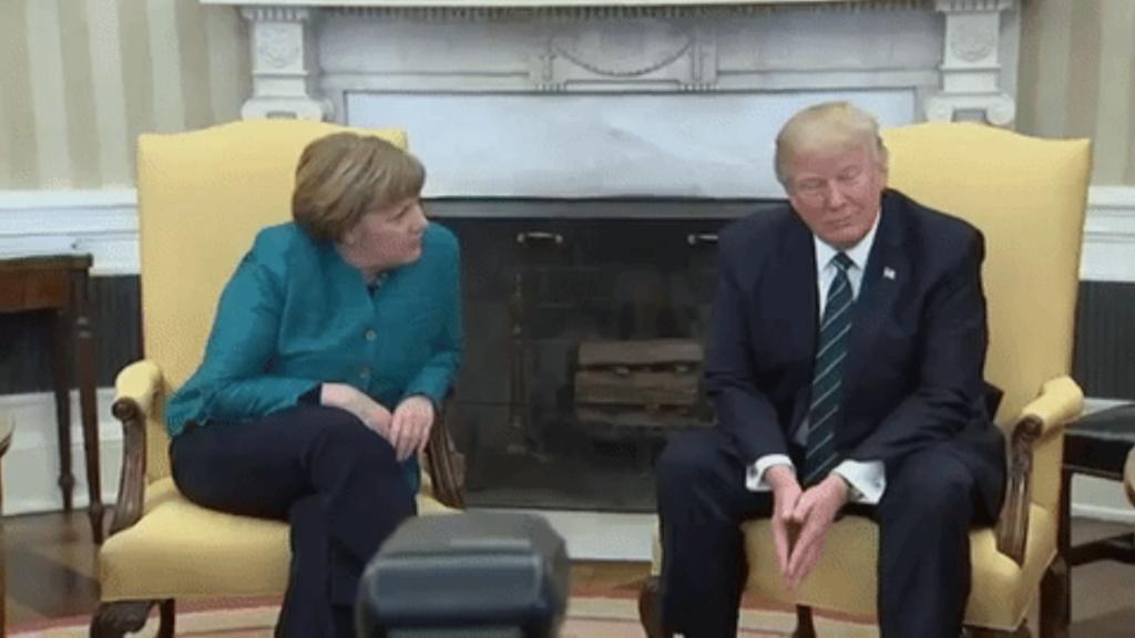 Merkel und Trump Gif