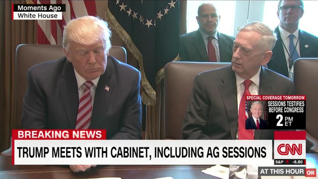 Trump hält erste Kabinettssitzung